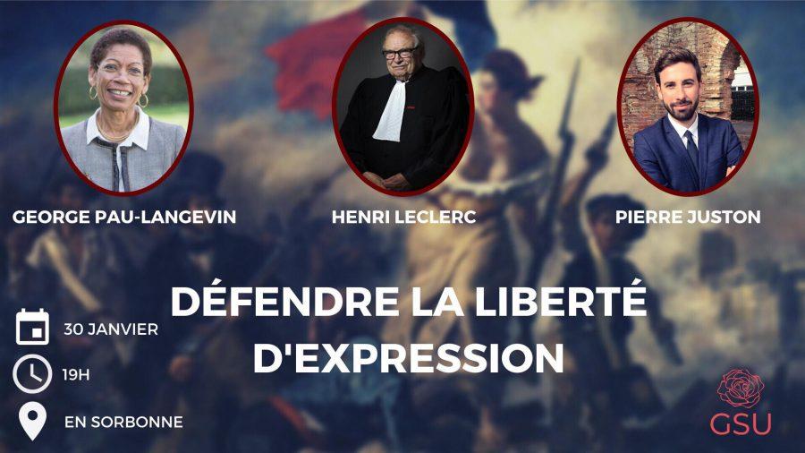 Conférence : Défendre la liberté d'expression